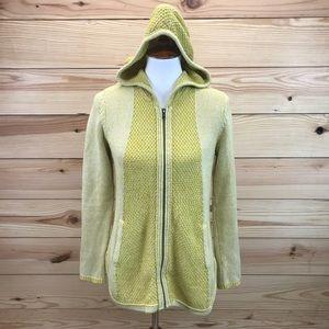 Sparrow Sweater Medium Cardigan Mustard Hooded
